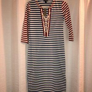 NWT Jcrew Striped Maxi dress